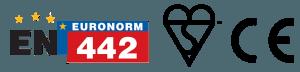 CE EN 442 marks logo