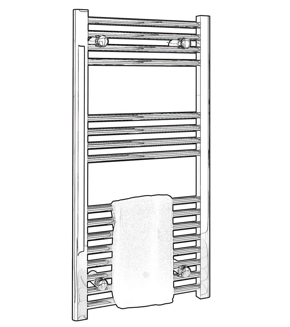 Kudox Central Heating Towel Rails