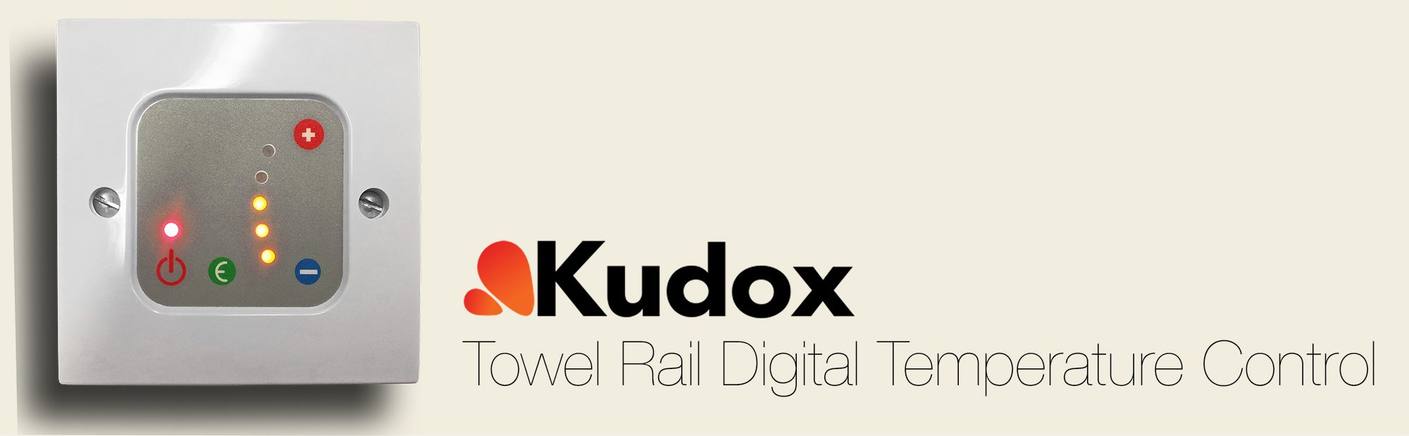Kudox Towel Rail Digital Temperature Control