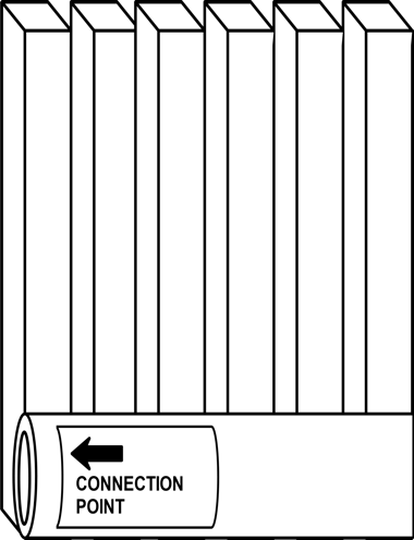 Find the upright position of a radiator